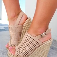 With Every Step Wedges: Nude