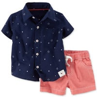 Carter's Baby Boys' 2-Piece July 4th Shirt & Shorts Set
