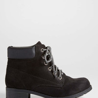 Juno faux suede boot in black | maurices
