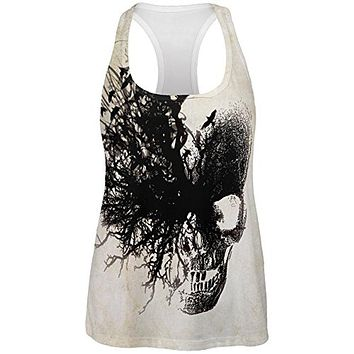 Dreaming Skull All Over Womens Work Out Tank Top
