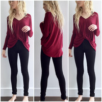 Lady Blouse in Burgundy