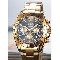ROLEX 2019 new men's mechanical tide brand waterproof quartz watch Gold