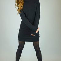 Helen Black Sweater Long Sleeve Dress