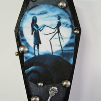 Nightmare Before Xmas Jack and Sally Coffin Jewelry Box