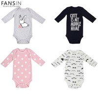 FANSIN Brand Baby Girl Clothes Autumn Baby Romper Spring Newborn Clothes Long Sleeve Baby Boy Clothing Cotton Infant Jumpsuits