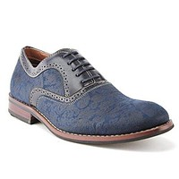 Ferro Aldo Men's 19513AL Paisley Design Lace Up Oxford Dress Shoes