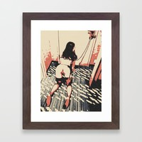 Well trained pet - bondage fantasy Framed Art Print by Peter Reiss