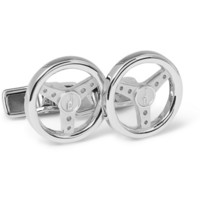 PRODUCT - Alfred Dunhill - Steering Wheel Sterling Silver Cufflinks - 332800 | MR PORTER