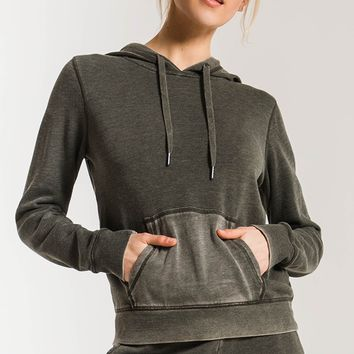The Faded Wash Pullover Hoodie- Rosin