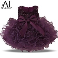 Girls sleeveless lace cake dress children toddler princess dress for baby kids girl dresses