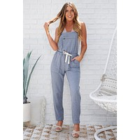 Lennie French Terry Overalls (Denim Blue)