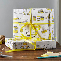 Baking Delight Gift Wrap, pack of 6 sheets