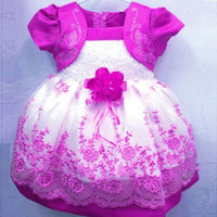 Baby Girl Kids Dress Puff Sleeve Chiffon One Piece Toddlers Child Princess Dress = 1958165252
