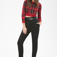 FOREVER 21 High-Waisted Woven Trousers