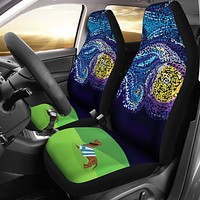 Starry Night Dachshund Car Seat Cover