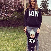 Family Matching LOVE Sweatshirts