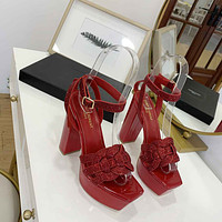 ysl women casual shoes boots fashionable casual leather women heels sandal shoes 53