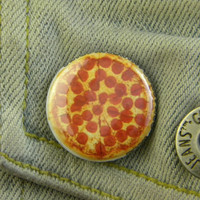 """1"""" Pin Back Button- Pizza - 1603"""