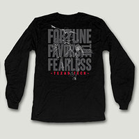 Fortune Favors the Fearless Men's Long Sleeve Tee Shirt