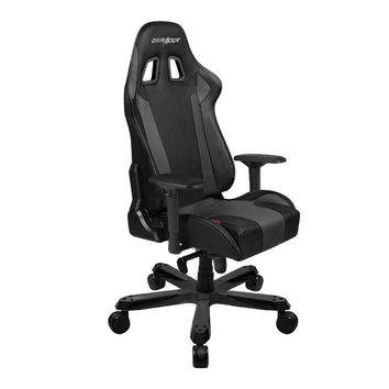 DXRacer-KS06N-Commercial Big & Tall Executive Chair-Leather High-Back Adjustable Chair-Home Deluxe Office chair-Black