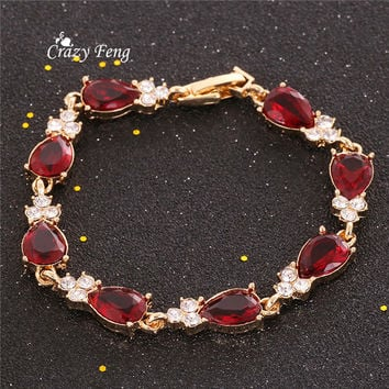 New Fashion Jewelry For Women Simple Design Crystal Bracelets For Party Best Friend Gift Bracelet