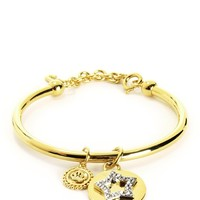 Gold Pave Star And Coin Bangle by Juicy Couture, O/S