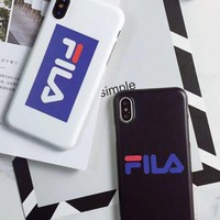 Phile Iphone7plus Phone Shell Popular Logo Iphone8 Handset Shell Simple European And American 6sp Creative Personality Fila