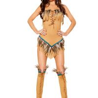 Roma Costume - 2pc Native American Seductress Women's Costume