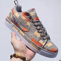 Nike Lunar Force 1 Duckboot Low color bar painting low-top casual sneakers brown