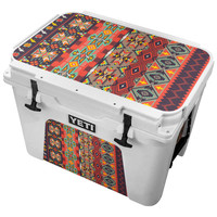 Rose and Humming Bird Aztec Pattern Skin for the Yeti Tundra Cooler