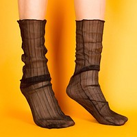 Mona Sheer Sock | Black