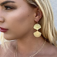 Fan of Life Gold Earrings