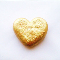HEART OF GOLD- gold heart decoration valentine's day gift shelf decor paperweight golden gilded heart love decorations decor