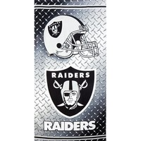 Oakland Raiders - Chrome Shield Velour Beach Towel