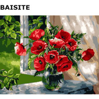 BAISITE Frameless DIY Oil Painting By Numbers Hand Painted Wall Picture On Canvas For Living Room Wall Art Home Decor H543