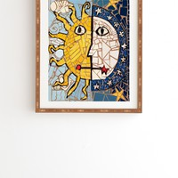 Fresh Artists Night And Day Mosaic Framed Wall Art