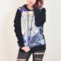 Motionless In White Creatures Punk Rock Hoodie Jacket Biker Sweater Tops Women Girl Sz S,M,L