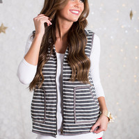 Simply Striped Gray Vest