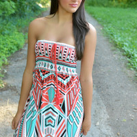 Off The Beaten Path Tribal Maxi Dress