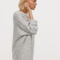 Long Sweater - Light gray melange - Ladies | H&M US