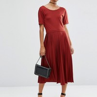 ASOS Pleated Midi Dress at asos.com