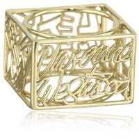 Vivienne Westwood Line Square Ring