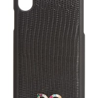 Dolce&Gabbana Crystal Logo Leather iPhone X Case | Nordstrom