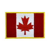 Canadian Flag Maple Leaf Patch Iron on Applique Alternative Clothing