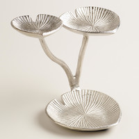 Silver 3-Tiered Lily Pads Jewelry Stand - World Market