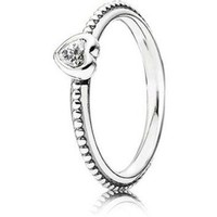 Authentic Pandora Jewelry - One Love Clear Ring