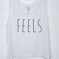 Feels Tank Top | Hand Screened Feels Crop Tank