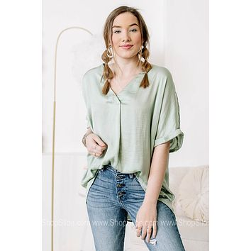 Hey There Delilah Silky Top | Sage