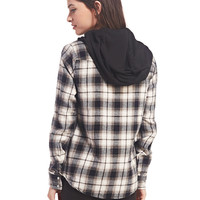 Plaid Flannel Hooded Shirt | Wet Seal