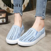 Designer Summer Women Sneakers ladies Suede Casual Shoes Shallow Slip On Zapatos Mujer Plus Size 35-43